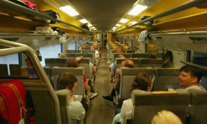 Inside of a train carriage